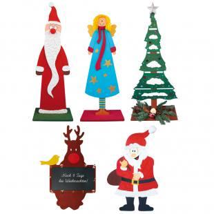 Weihnachtliche Holzdeko zum Bemalen