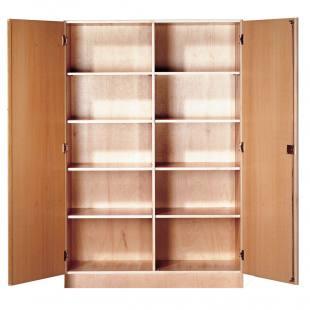 Materialschrank 2-türig, mit Mittelwand, 8 Einlegeböden