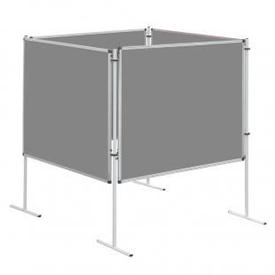 Sparset Stellwand - Quadrat, Stoffarbe: grau