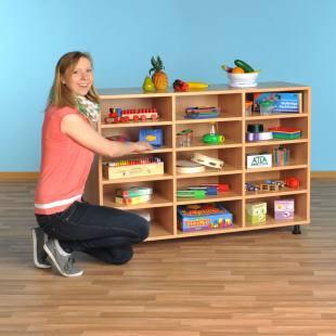Modulus Klassenzimmerregal - mit 15 großen Fächern