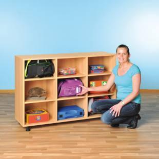 Modulus Klassenzimmerregal - mit 9 großen Fächern
