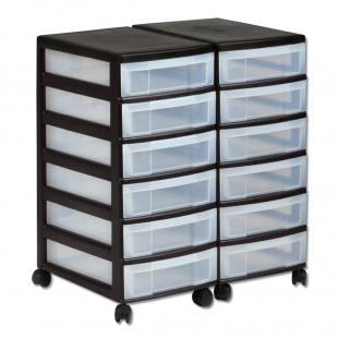 Schubladen-Rollcontainer aus Kunststoff