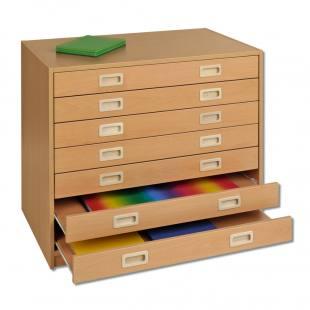 Modulus Papierschrank mit Schubladen