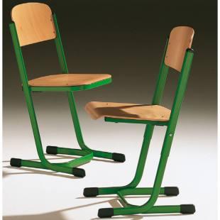 Schülerstuhl, Modell T mit geschlossenem Sitzträger