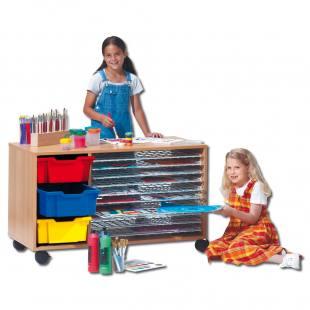 Bildertrockenwagen - mit farbigen Kunststoffboxen