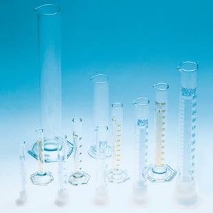 Messzylinder, Glasfuß, Borosilikatglas