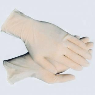 Einmal-Schutzhandschuh aus Latex, in 2 Größen