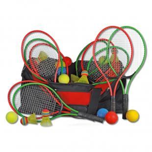 Tennis-Set mit 12 Schlägern
