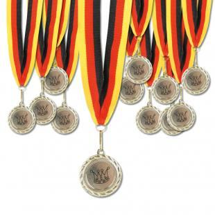 Satz mit 12 gleichen Medaillen (Krone)
