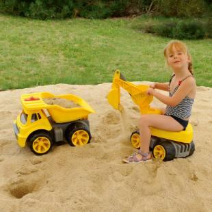 Kindergarten-Set - BIG-Power-WorkerTruck und Maxi-Digger