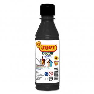 Jovi-Dekor 250 ml Kunststoff-Flasche - schwarz