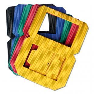5 Laternenrohlinge - in 5 Farben sortiert