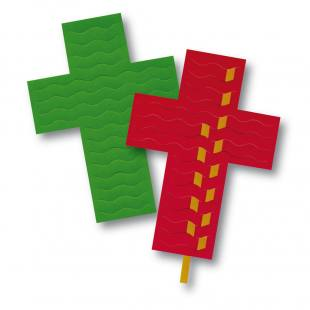 Kreuze zum Flechten
