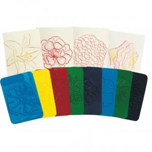 Blumen-Rubbel-Platten