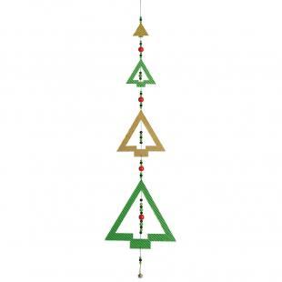 Weihnachtsanhänger - 4 Tannenbäume im Set