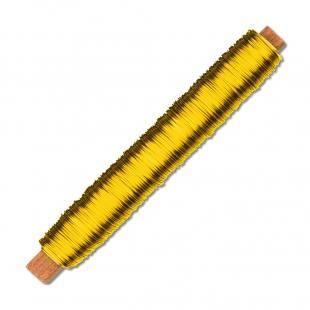 Lackierter Bindedraht - gold