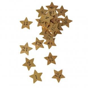 24 Adventskalender-Sterne