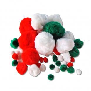 """Pompons """"Plüsch"""" - Weihnachten-Mix"""