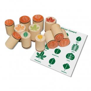 Holzstempel Blätter