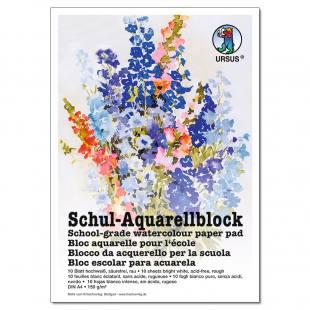 Schul-Aquarellblock - DIN A4