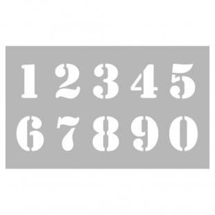 Schablonen Zahlen - 0 bis 9