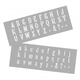 Schablonen - Alphabet Klein- und Großbuchstaben