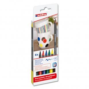 Porzellan-Pinselstift-Set - Grundfarben