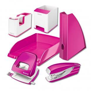 Schreibtischset, 6-teilig, pink metallic