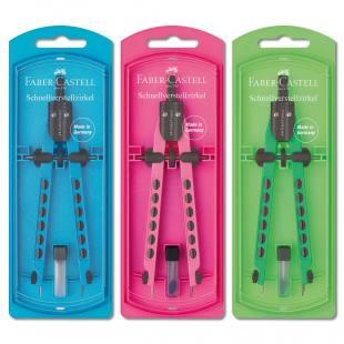 Faber Castell® Zirkel in Neon-Farben