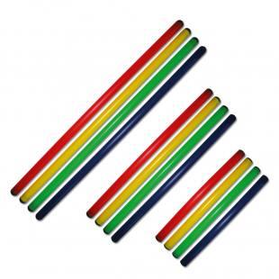 4 Gymnastik-Rhythmik-Stangen - in 3 verschiedenen Längen