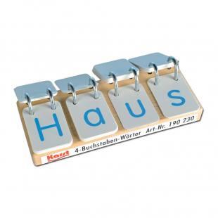 4-Buchstaben-Wörter auf Wendebügeln