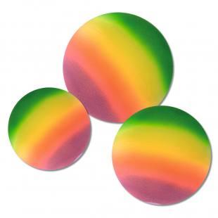 Regenbogenball in verschiedenen Größen