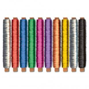 Lackierter Bindedraht - in 10 verschiedenen Farben