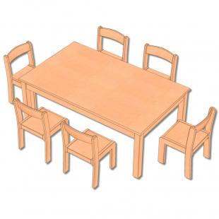7-teiliges Möbel-Set - in 5 Höhen lieferbar