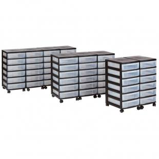 Modulus® Rollcontainer mit transparenten Schubladen