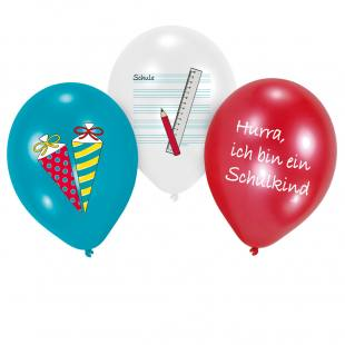 Luftballons zur Einschulung