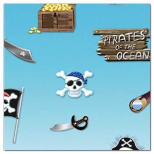 """Motivkarton """"Kinderland"""" Piraten"""
