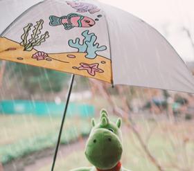 Regenschirm zum Selbstgestalten