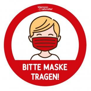 """10er Set Türaufkleber """"Bitte Maske tragen"""""""