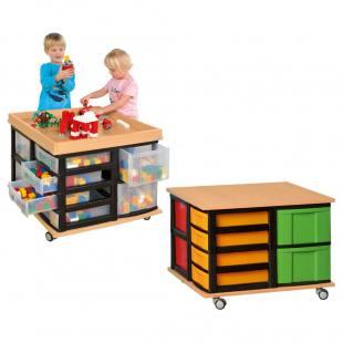 Modulus® Spieltisch mit Schubladen