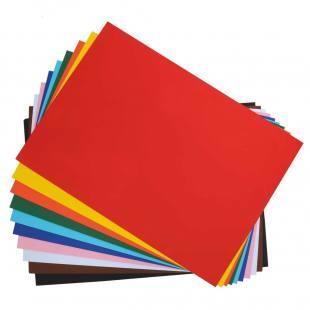 Tonzeichenpapier 130g/m² - 100 Bogen in 10 Farben