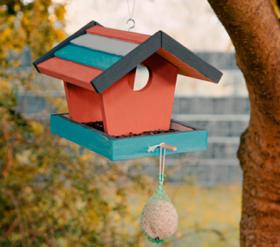 Zum Vogelfutterhaus-Bausatz