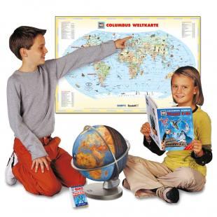 Was ist Was - Illustrierte Weltkarte