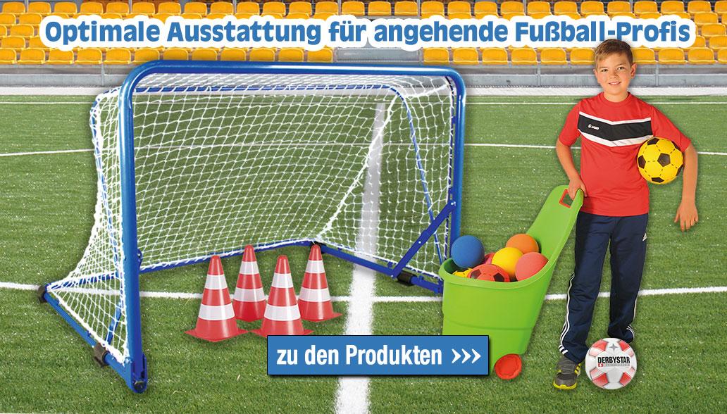 Equipment für angehende Fußball-Profis