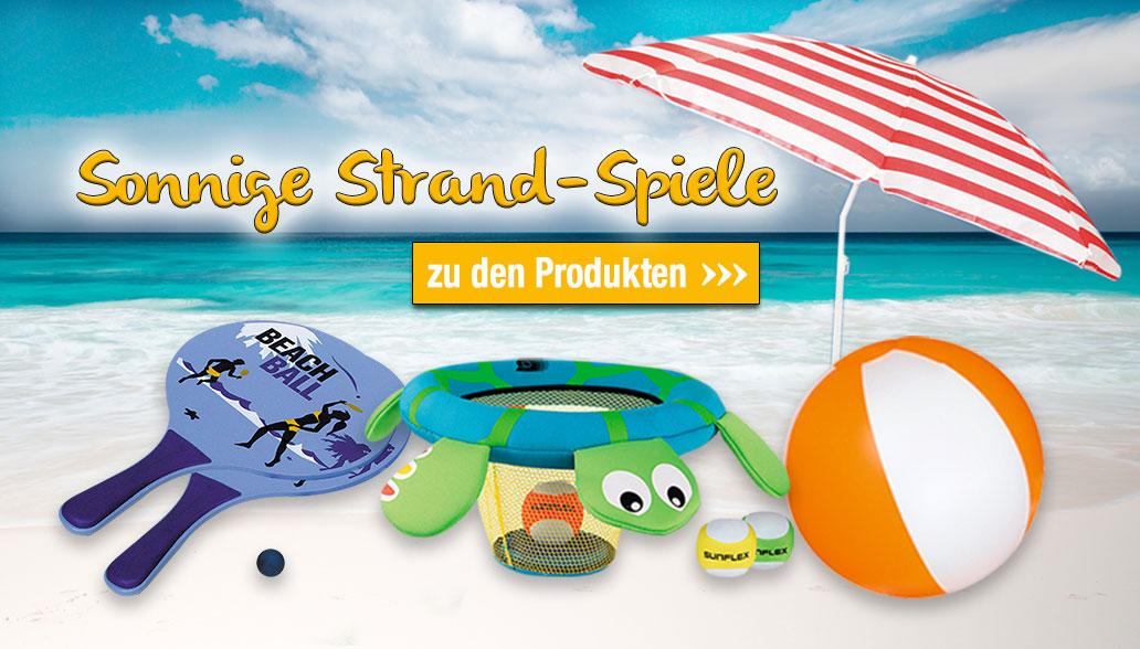 Sonnige Strand-Spiele