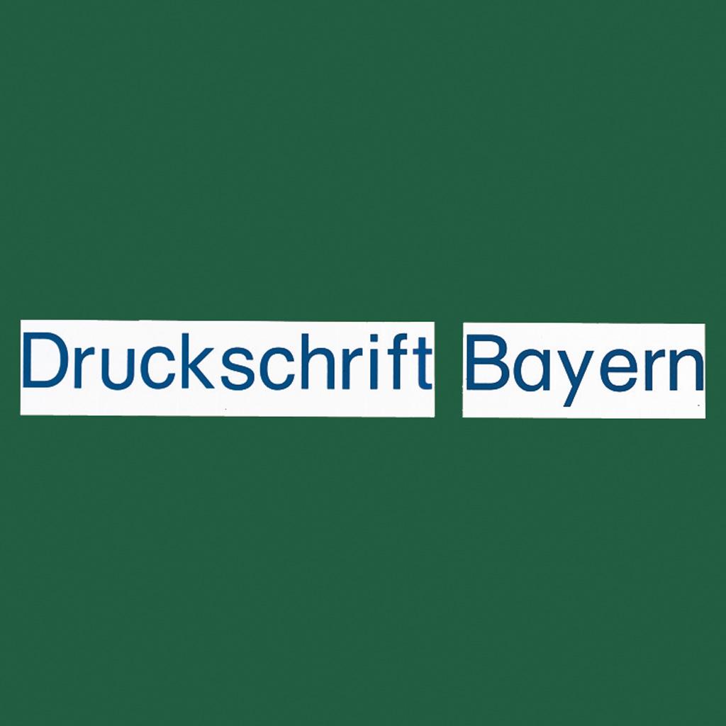 ABC-Buchstabensatz – Neue Druckschrift Bayern