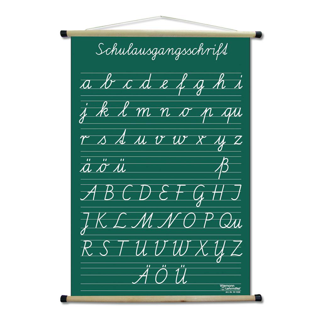 Schrifttafel – rollbar
