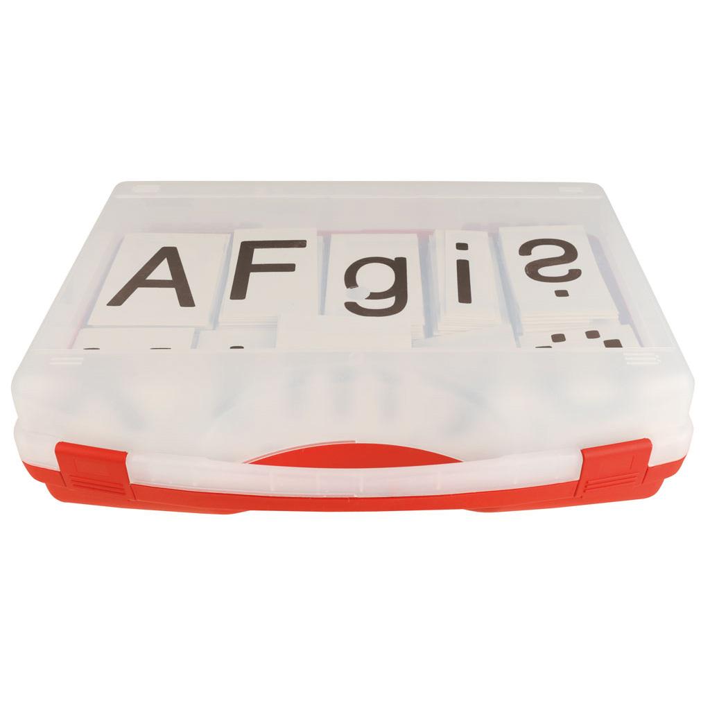 Magnetische Buchstaben im Kunststoffkoffer