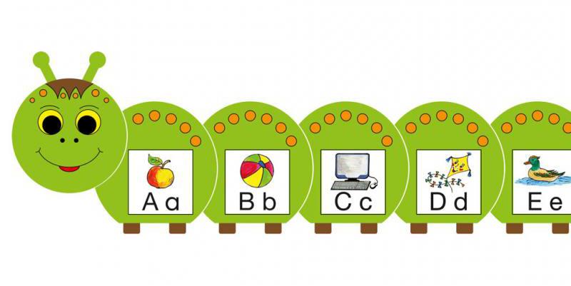 Lesen und schreibenlernen mit der abc raupe - Raupe basteln kindergarten ...