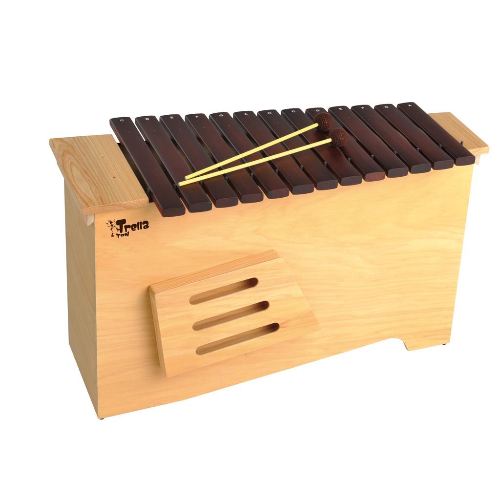 """""""Trella Ton"""" Bass Xylophon aus Holz"""